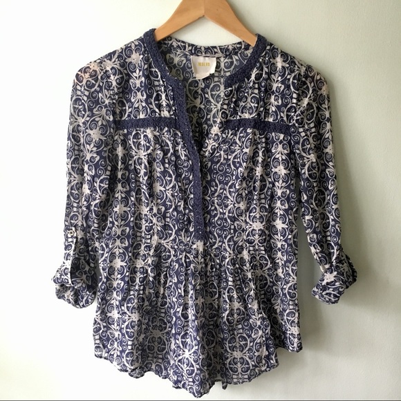 Anthropologie Tops - Anthropologie Maeve Cotton Blouse
